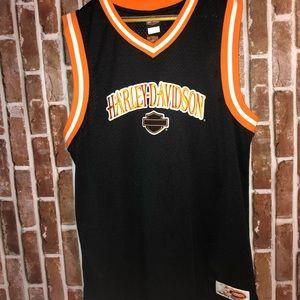 "Harley Davidson Basketball Jersey "" Austin TX"""